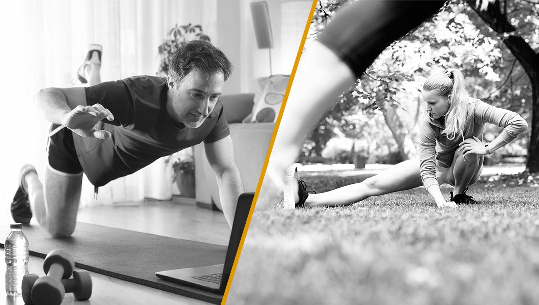 At home and in-person workouts